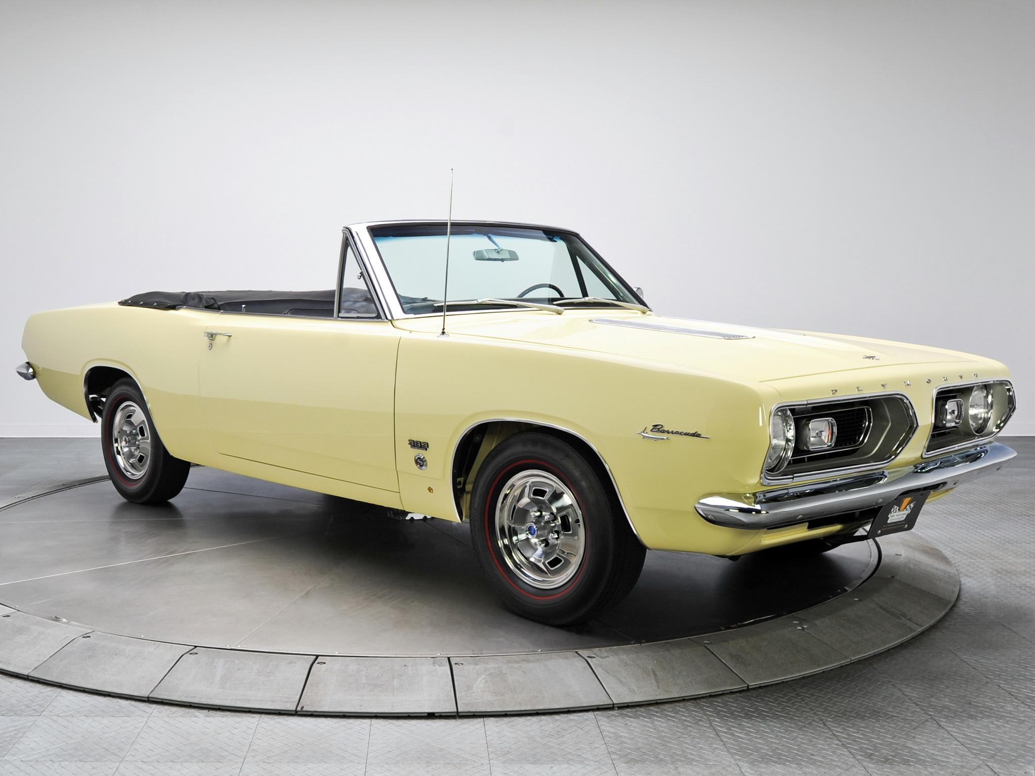 Обои плимут, желтый, кабриолет, Plymouth, cuda, мускул. Автомобили foto 17