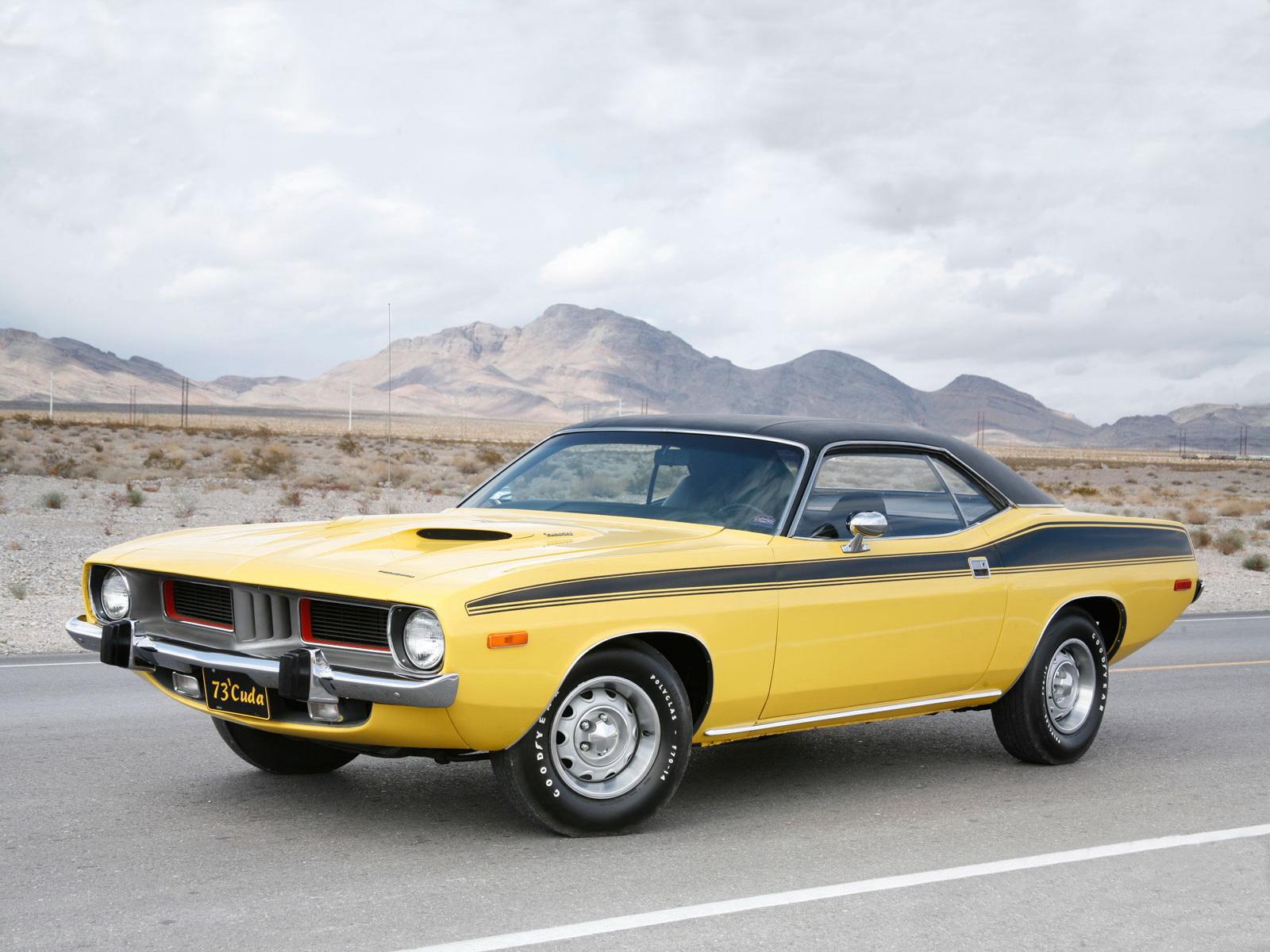 Обои плимут, желтый, кабриолет, Plymouth, cuda, мускул. Автомобили foto 15