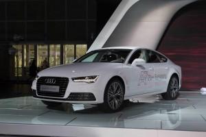 Новый Audi A7 Sportback h-tron, передняя диагональ