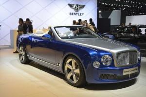 Bentley Grand Convertible 2014, вид на переднюю диагональ