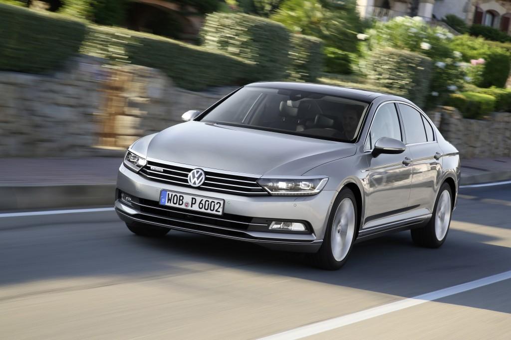 фото нового Volkswagen Passat В8 внешний вид передняя диогональ