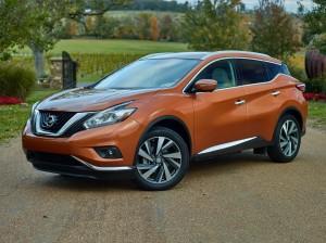 Новый Nissan Murano, вид на переднюю диагональ