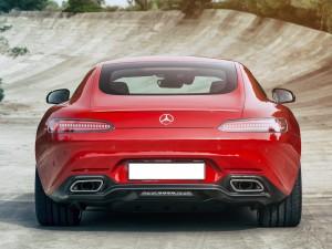 Mercedes-AMG GT 2015, вид сзади