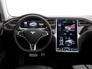 Tesla Model S P85D, передняя панель