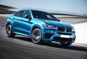 Новый BMW X6 M, вид на переднюю диагональ