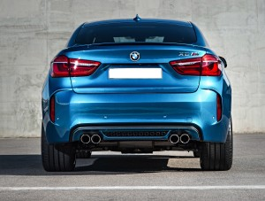 BMW X6 M 2015, вид сзади