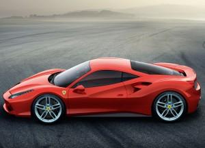 Ferrari 488 GTB 2015, вид сбоку