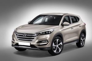 Hyundai Tucson 2015, вид на переднюю диагональ
