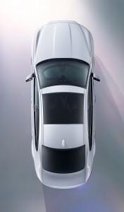 Jaguar XF второго покоелния, вид сверху