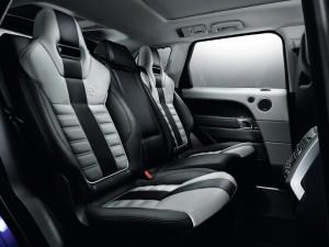 Range Rover Sport SVR 2015, задние сиденья