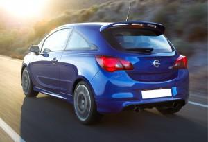 Новый Opel Corsa OPC, вид на заднюю диагональ