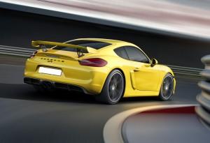 Porsche Cayman GT4, вид на заднюю диагональ