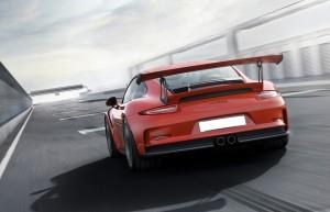 Porsche 911 GT3 RS 2015, вид сзади