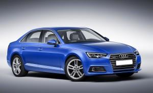 Audi A4 2015, вид на переднюю диагональ