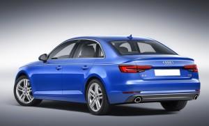 Audi A4 B9, вид на заднюю диагональ
