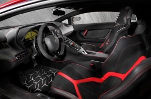 Lamborghini Aventador SuperVeloce, сиденья