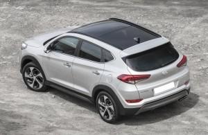 Hyundai Tucson 2015, вид на заднюю диагональ