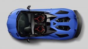 Lamborghini Aventador LP750-4 SuperVeloce Roadster 2015, вид сверху