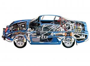 К трубчатой раме А110 крепились стеклопластиковые кузовные панели