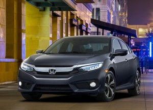 Honda Civic 2015, вид спереди