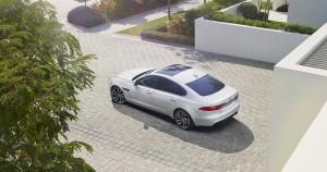Новый Jaguar XF, вид сверху