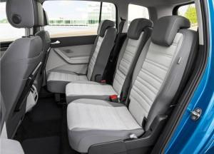 Volkswagen Touran 2015, задние сиденья