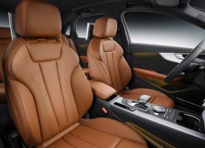 Audi A4 2015, передние сиденья