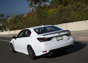 Lexus GS F, вид на заднюю диагональ
