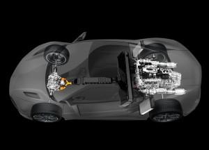 Acura NSX 2015 в разрезе