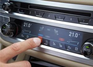 BMW 7 Series, сенсорные кнопки блока климат-контроля