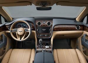 Bentley Bentayga 2016, передняя панель