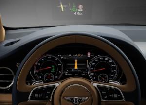 Bentley Bentayga, комбинация приборов