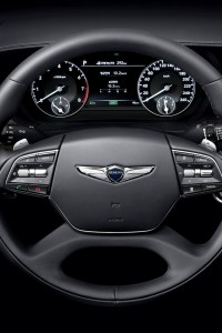 Hyundai Genesis G90, рулевое колесо
