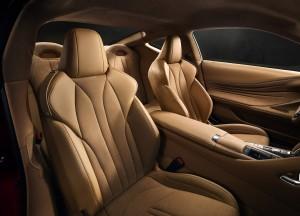 Новый Lexus LC 500, передние сиденья