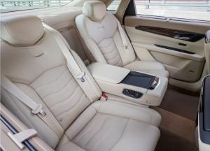 Cadillac CT6 2016, задние сиденья