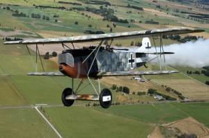 Истребитель Fokker D.VII с двигателем BMW IIIa