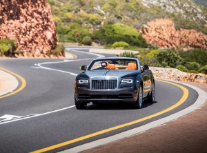 Rolls-Royce Dawn 2016, вид спереди
