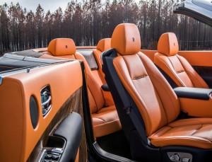 Rolls-Royce Dawn 2016, передние сиденья