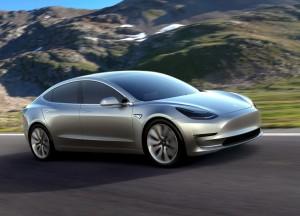 Tesla Model 3 2016, вид на переднюю диагональ