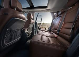 Renault Koleos 2016, задние сиденья