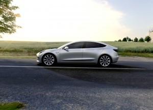 Tesla Model 3 2016, вид сбоку