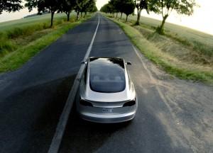 Tesla Model 3 2016, вид сзади