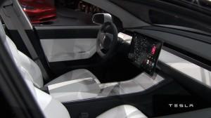 Tesla Model 3 2016, салон