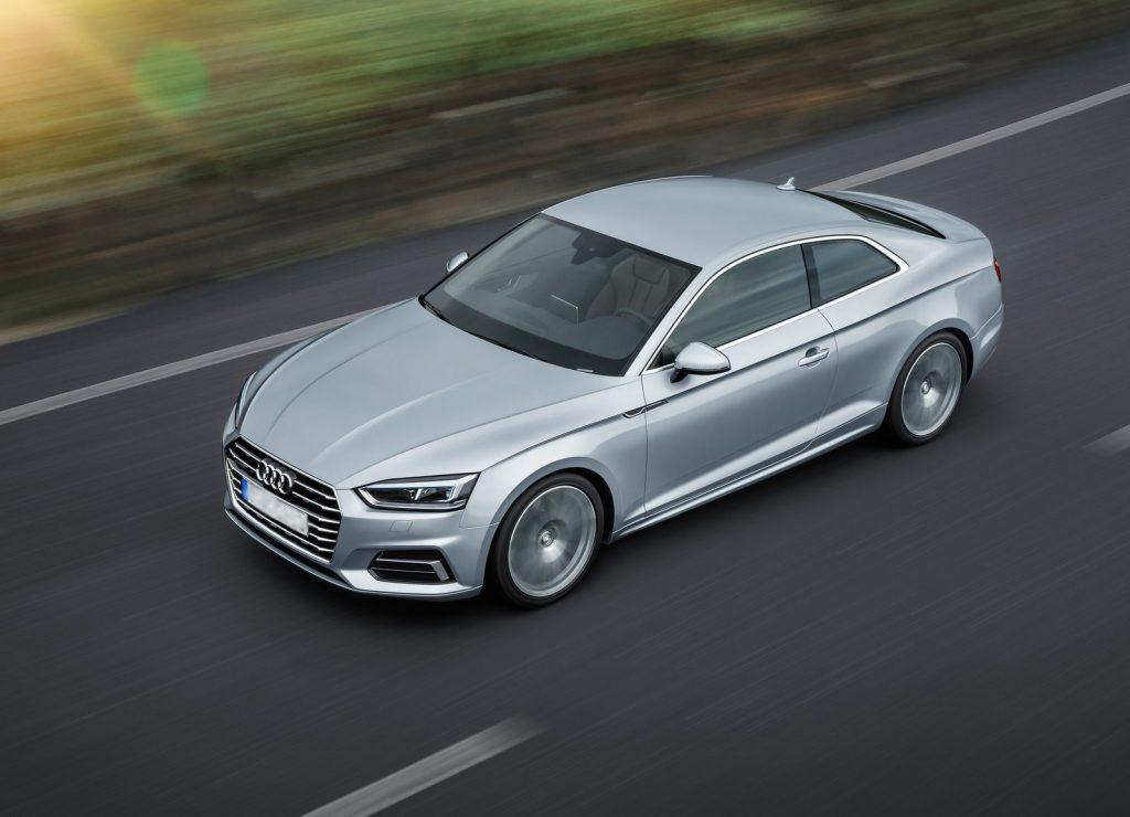 Новый Audi A5, вид сверху