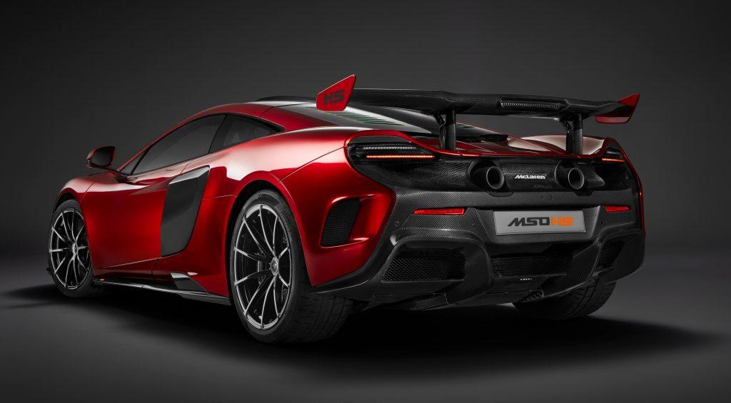 McLaren MSO HS 2016, вид сзади