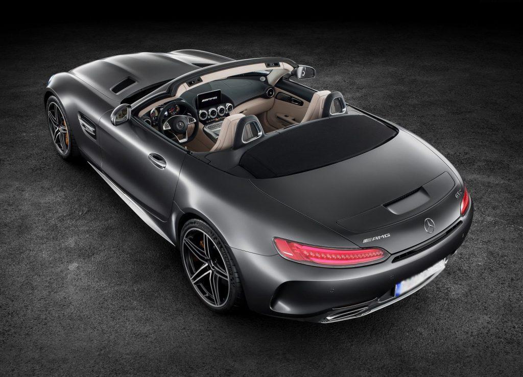Новый Mercedes-AMG GT Roadster, вид сверху