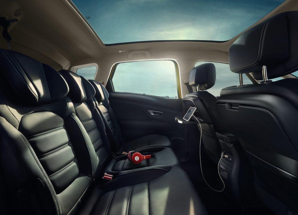 Renault Scenic 2016, задние сиденья