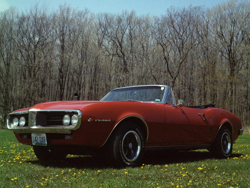 Кабриолет Pontiac Firebird 1967 года
