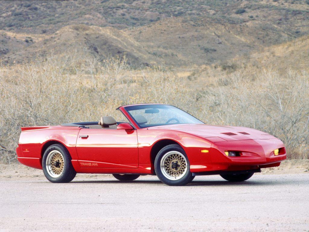 Кабриолет Pontiac Firebird Trans Am, 1991 год