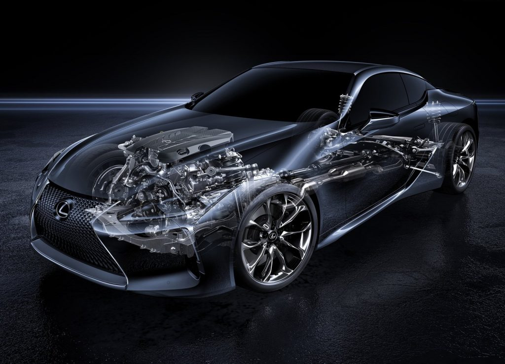 Lexus LC 500, двигатель